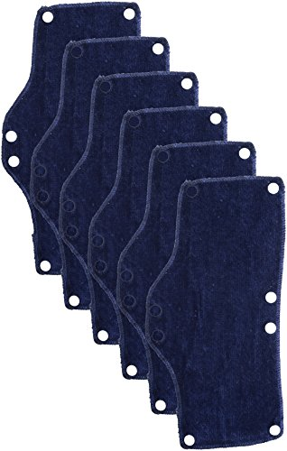 OccuNomix Snap-On Hard Hat Sweatband, Beat The Heat, Blue, 6 Count