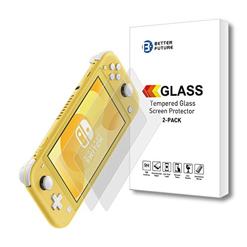 Screen Protector for Nintendo Switch Lite 2019,2 Pack,Tempered Glass Film,Bubble Free Crystal Clear