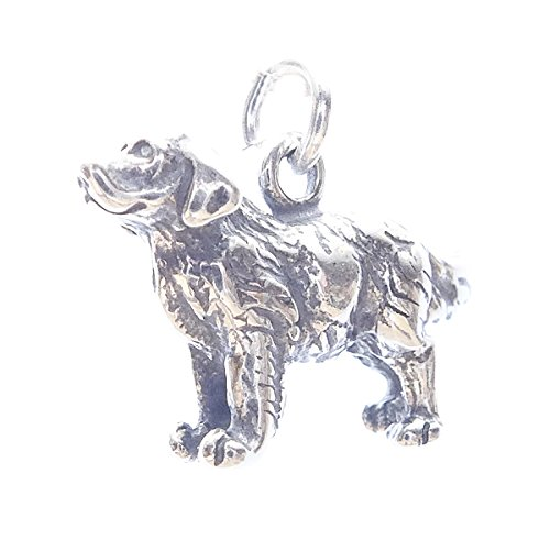 Golden Retriever Sterling Silver Traditional Dangle Dog Charms