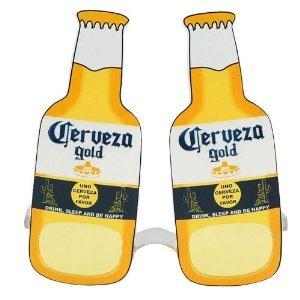 Cerveza Beer Costume Glasses