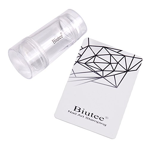 10pcs Tampons de Rechange Biutee Tampons Clairs en Silicone Transparent Nail Art Stamping TOOL-BB-949