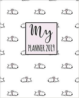 My Planner 2019: Bull Terrier Pattern Weekly Planner 2018 ...