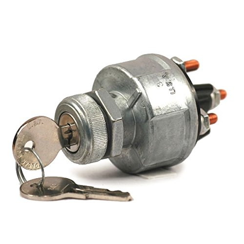 - Universal 4 Position Ignition Switch With Keys Accessory-Off-On-Start Uses #10 Ring Terminals