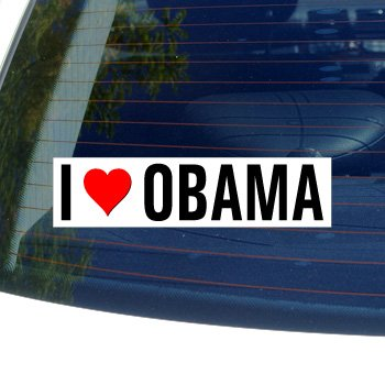 - Graphics and More I Love Heart Obama Window Bumper Sticker