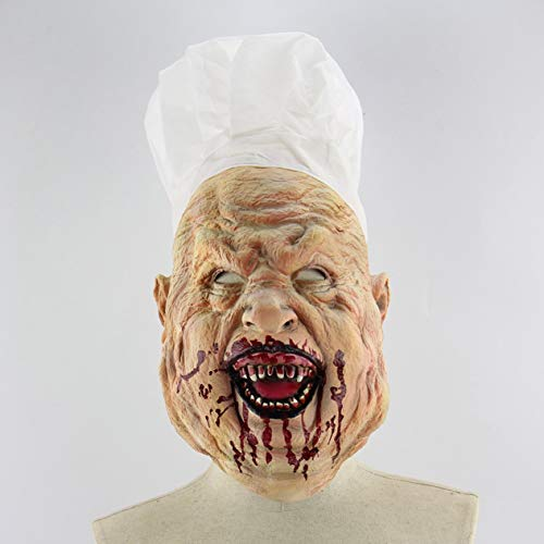 Ironheel Mask,Halloween Terror Zombie Mask Cosplay Props Bloody