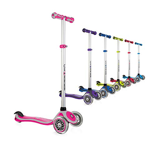 Globber Primo 3 Wheel Adjustable Height Scooter (Pink/Gray)