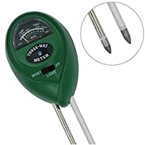 DigHealth Soil PH/Moisture Meter, 3-in-1 Soil Testers (PH acidity, Moisture, Light) for Garden Farm, Indoor/Outdoor Plants, Scientifically Accurate Probe, Easy Read Indicator, No Need Batteries