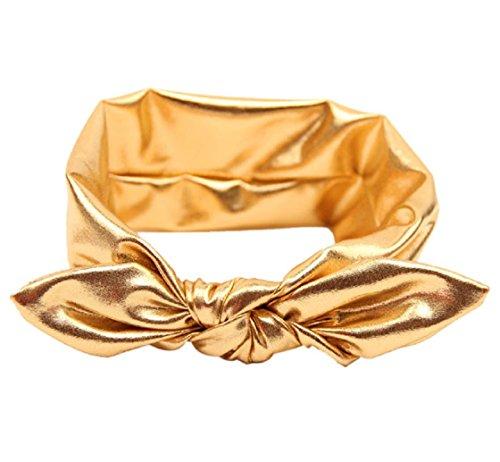 Fullkang Fashion Rabbit Design Elasticity Wash Gold Baby Girl Headband (gold)