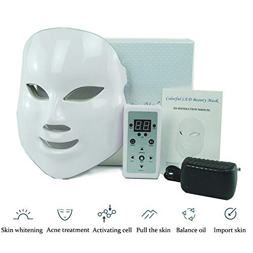 Led Face Mask - MyM 7 Color Photon Light Therapy Skin Rejuvenation Facial Skin Care Mask