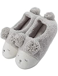 Warm Indoor Slippers Women Fleece Plush Bedroom House Shoes Non Slip Winter Boots