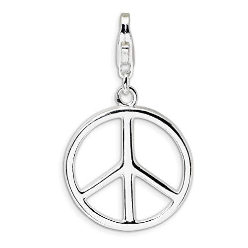 Peace Symbol Clip-On Charm...