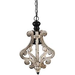 A&B Home Perth Wooden Chandelier, 12.6 X 20.9-