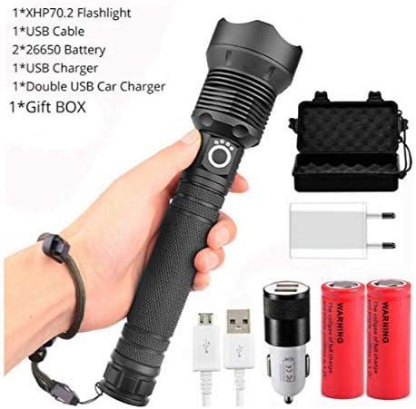 LED Lampe De Poche 90000 Lumens Xhp70.2 Plus Puissant Lampe De Poche 26650 Torche USB Xhp70 Xhp50 Lanterne 18650 Chasse Lumi/ère Main