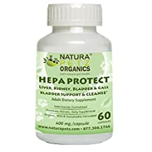 Natura Petz Organics HEPC2ADTCAT HEPA Protect - Liver, Kidney, Bladder & Gallbladder Support & Cleanse
