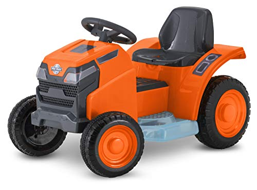 NB Realistic,Fun,Exciting,Safe to Ride Mow & Go Lawn Mower, 6-Volt Ride-On Toy for Kids,Ages 18 - 30 Months,Orange,Wonderful Gift Idea (Lawn Mower For Kids)