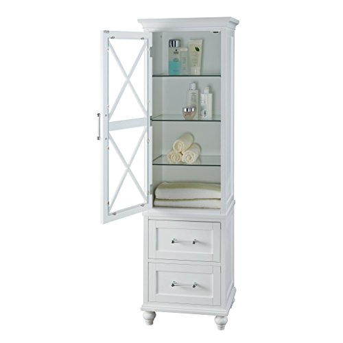 Grayson Linen Tower with 2 Drawers by Elegant Home Fashions 70%OFF