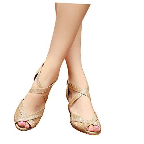 Tango Sandaalit Salsa Misu Kultaa Latin Käytännössä Naisten 3 Peep Tanssikengät Kantapää Tanssisali 3 Toe q4wxtxFYXB