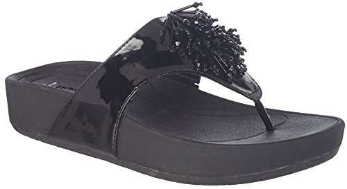 Women's Bare Traps, Ginifer beaded Thong Sandals BLACK PATENT 10 M - Low Heel Patent Thong Sandal