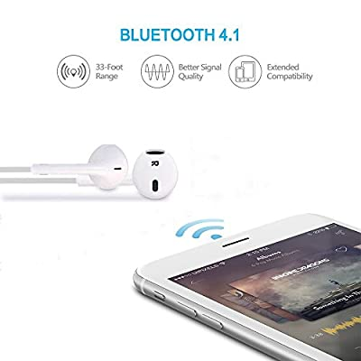 Bluetooth Headphones,INNLIFE Wireless Headphones V4.1 Stereo Earphones Noise Cancelling Earbuds Sports Sweatproof Headset with Mic for iPhone X 8 7 Plus Samsung Galaxy S7 S8 and Android Phones