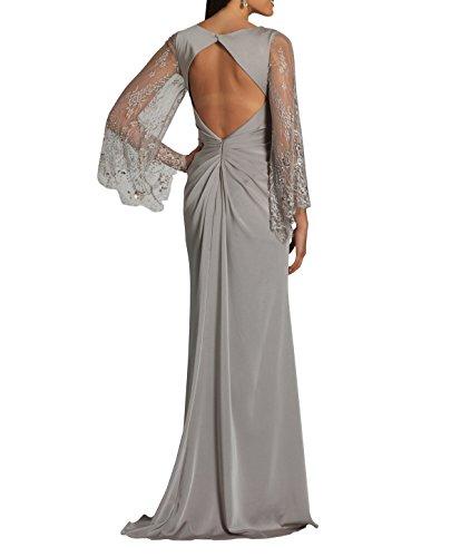 Abendkleider Abschlussballkleider La Spitze Brau Champagner Brautmutterkleider Neu Langarm mia 2018 Etuikleider Festlichkleider mit 8SAYq