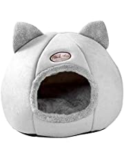 Baoblaze Kitten Bed Cave Bed for Cats & Dogs - Kitty Bed/Cat Hut/Covered Cat Bed Caves with Removable Cushioned Pillow, Indoor Pet Cat Dog Beds for Pets - L 36CM