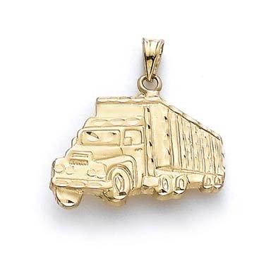 14 carats pendentif de camion JewelryWeb de remorquage