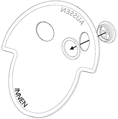 Nebu-Tec SaHoMa-Ii Filtermembran mit Ventil 5 St/ück Packung Hm-213
