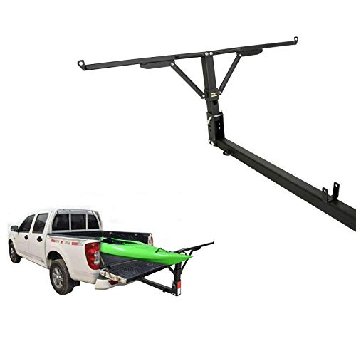 ECOTRIC Foldable Pick Up Truck Bed Hitch Extender Extension Rack Canoe Boat Kayak Lumber w/Flag