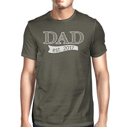 Camiseta para oscuro de Est Gris Printing corta manga Dad un 2017 con solo hombro 365 hombre wq5UznHU