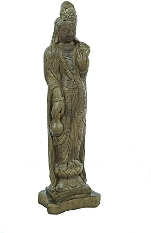 Solid Rock Stoneworks Medium Oriental Lady Statue 27in Tall