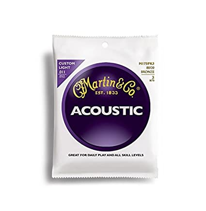 Martin 80/20 Bronze Acoustic Guitar Strings - Medium (Pack of 3) M150PK3