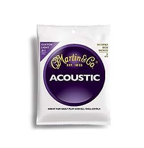 Martin M175PK3 - Juego de cuerdas para guitarra acústica de bronce, .011-.052