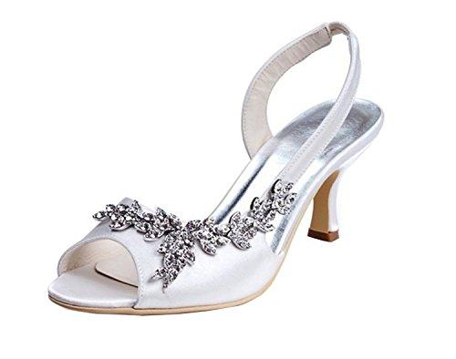 Minitoo - Zapatos con tacón mujer, color beige, talla 43