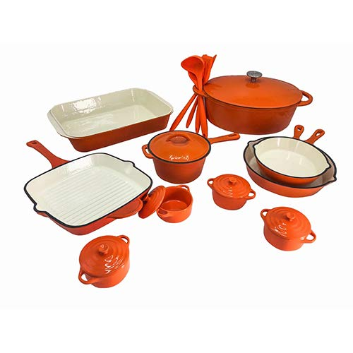 enamel cast iron cookware set - 5