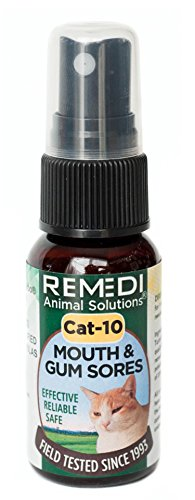 Homeopath Ellen's Turbo Cat-10 Mouth and Gum Sores by Remedi Animal Solutions