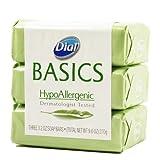 Dial Basics HypoAllergenic Dermatologist Tested Bar Soap, 3.2 oz (12 Bars)