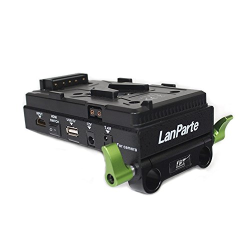 Lanparte VBP-01 SONY V-Mount Battery Pinch with HDMI Splitter, Multiple Power Ports, V-Lock (Black)