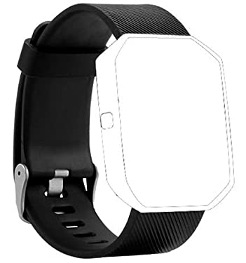 est Fitbit Blaze Band, BeneStellar Silicone Replacement Small Large Band Bracelet Strap for Fitbit Blaze Smart Fitness Watch, Gray, Large