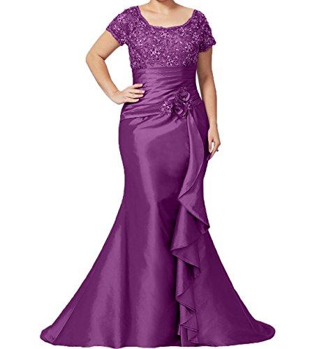 Schnitt Damen Brautmutterkleider Damen Spitze Schmaler Abendkleider Violett Langes Charmant Formalkleider Rock Ballkleider Trumpet 1qFxzvv