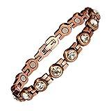 Copper Bracelet for Women Magnetic Bracelet Pain Relief for Arthritis and Carpal Tunnel Migraines Tennis Elbow