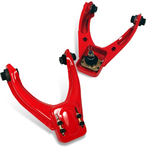 Spec-D Tuning CAM-CV96RD Honda Civic Lx Dx Ex Front Upper Red Camber Kit (Honda Civic Camber Kit)