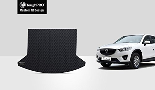 TOUGHPRO Cargo/Trunk Mat Accessories Compatible with Mazda CX-5 - All Weather - Heavy Duty - (Made in USA) - Black Rubber - 2013, 2014, 2015, 2016, 2017, 2018, 2019, 2020