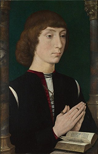Polyster Canvas ,the Amazing Art Decorative Canvas Prints Of Oil Painting 'Hans Memling A Young Man At Prayer (Praying Girl Snow Globe)