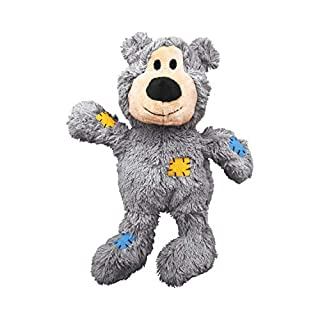 KONG NKR1 Wild Knots Bear - Internal Knotted Ropes and Minimal Stuffing for Less Mess - For Medium/Large Dogs (Assorted Colors)