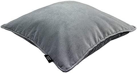 Super Mcalister Textiles Matt Velvet Throw Pillow With Filler In Dove Gray Square 20X20 Inches For Couch Sofa And Bed Plump And Plush Filled Toss Gmtry Best Dining Table And Chair Ideas Images Gmtryco