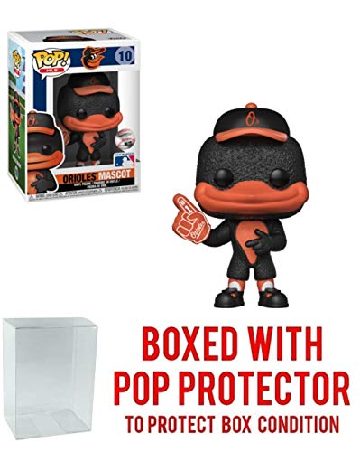 POP! Sports MLB Mascots Baltimore Orioles, The Orioles Bird #10 Action Figure (Bundled with Pop Box Protector to Protect Display Box)
