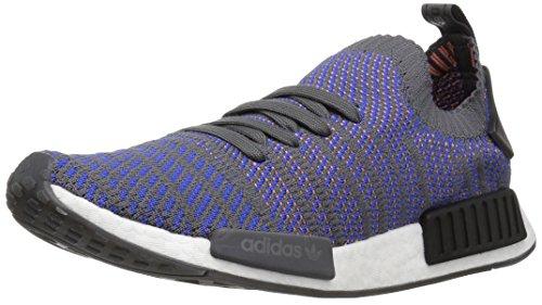 adidas Originals Men's NMD_R1 STLT PK Running Shoe, hi-res Blue/Black/Coral, 5 M US ()