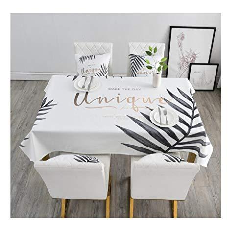 A2 100160 NingVong Table à Manger élégante et généreuse en Tissu de Coton et de Lin avec Nappe jetable Anti-brûlure@A2_100  160