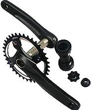GANOPPER 170mm Crankset 30T 32T 34T 36T 38T Single Speed Mountain Bike Cycling Road Bike Crank Arm Set