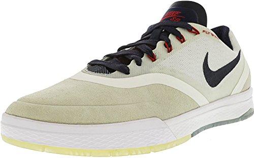 Nike Heren Paul Rodriguez 9 Elite Enkellange Skateboarden Schoen Top Wit / Obsidiaan - Kauwgom Lichtbruin - Wit